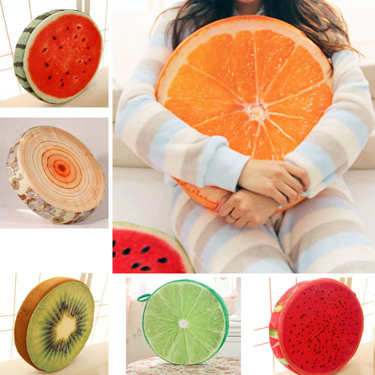Πρωτότυπο Διακοσμητικό Μαξιλάρι Φρούτο-Ρόδα-Κορμός