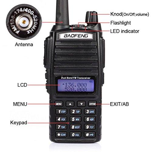 Φορητός Ασύρματος Πομποδέκτης 5W Dual Band VHF UHF - Walkie Talkie Baofeng UV-82
