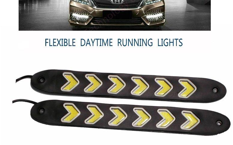 Εύκαμπτα λεπτά φώτα ημέρας αυτοκινήτου COD LED με σχήμα βελάκια σετ 2 τεμάχια