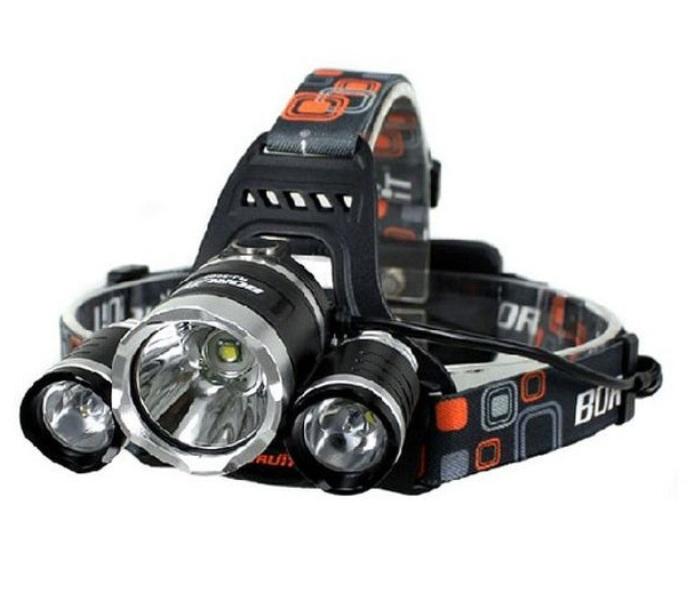 Φακός Led κεφαλής CREE T6 10w + 2pcs XPE CREE 3w LED