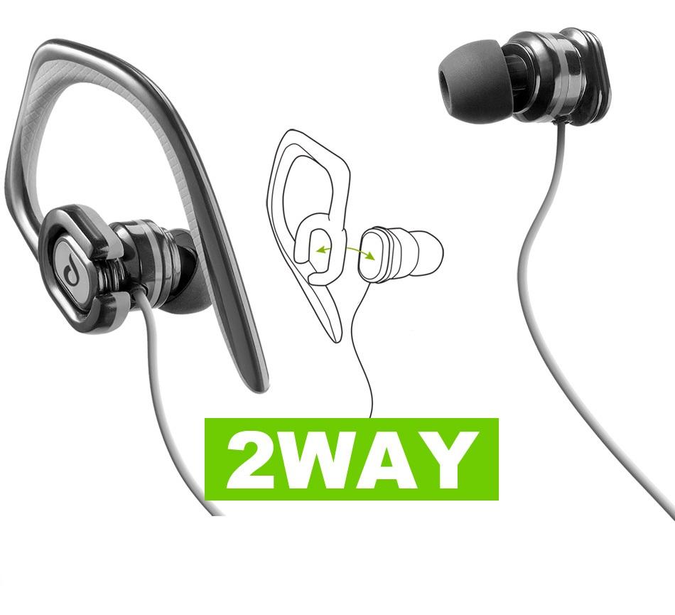 Ακουστικά Sport με αποσπώμενο άγκιστρο Cellularline