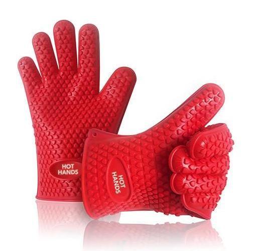Αντιολισθητικά γάντια φούρνου 5 δακτύλων - σετ 2 τεμαχίων