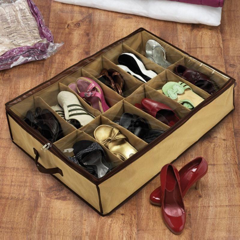 Οργανωτής παπουτσιών για κάτω από το κρεβάτι