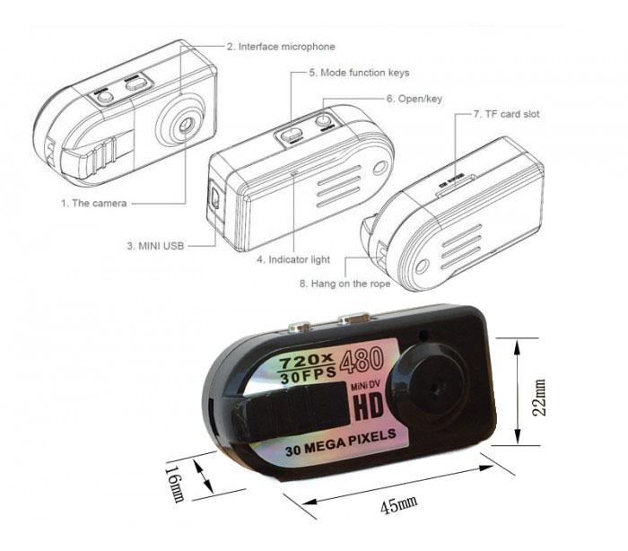 Mini DV κάμερα 30MP