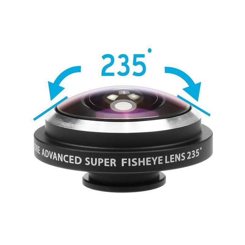 Σετ 2 φακών - Macro και FishEye 235° - με κλιπ προσαρμογής για όλα τα κινητά