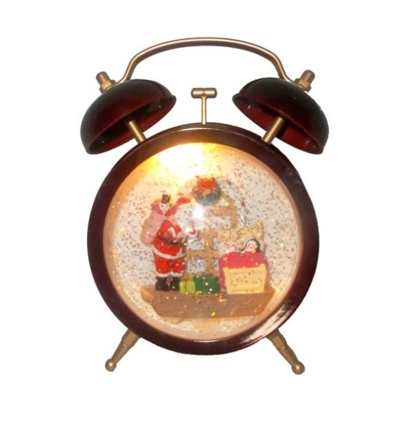 Χριστουγεννιάτικο ρετρό διακοσμητικό ξυπνητήρι με μουσική και φως