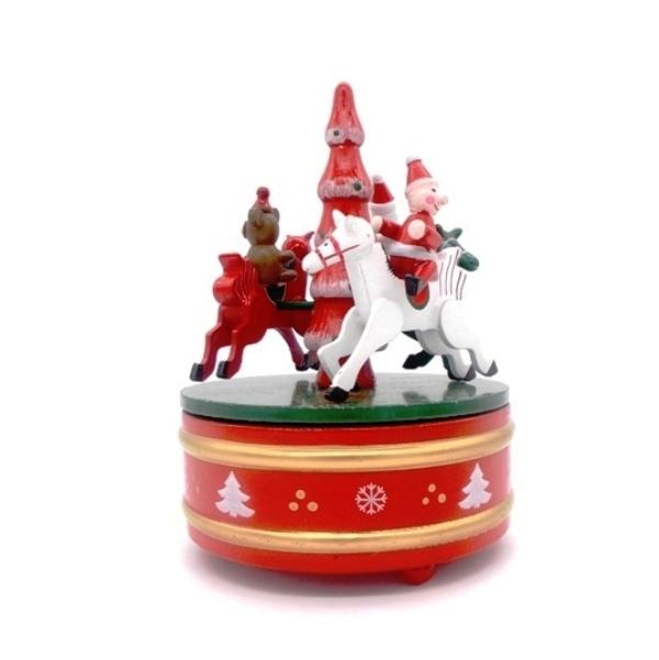 """Ξύλινο χριστουγεννιάτικο καρουζέλ """"αλογάκια"""""""