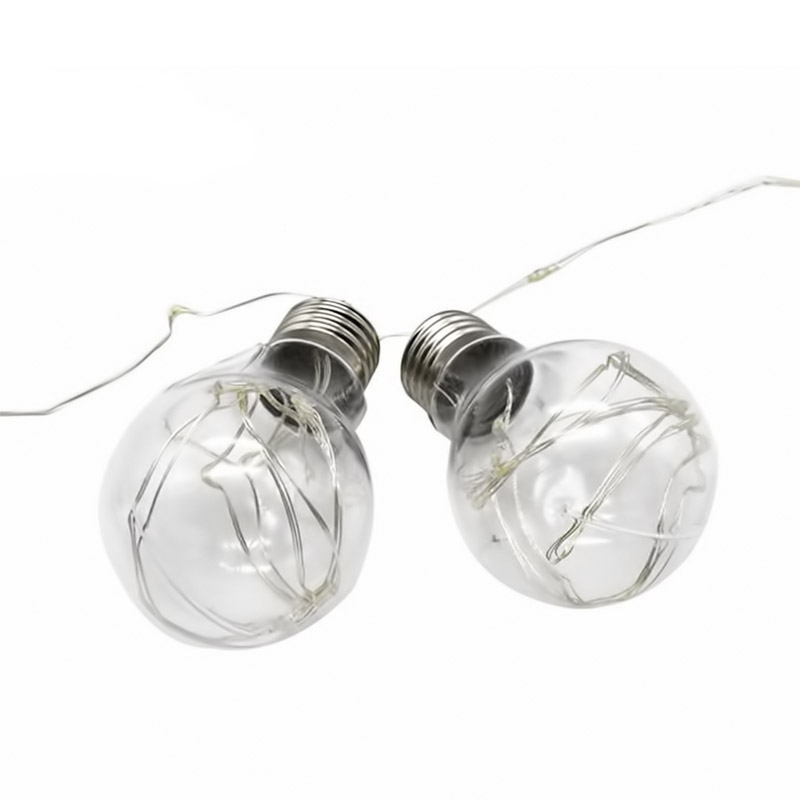 LED φωτάκια μπαταρίας σε γιρλάντα με 10 λαμπτήρες και καλώδιο χαλκού 3m