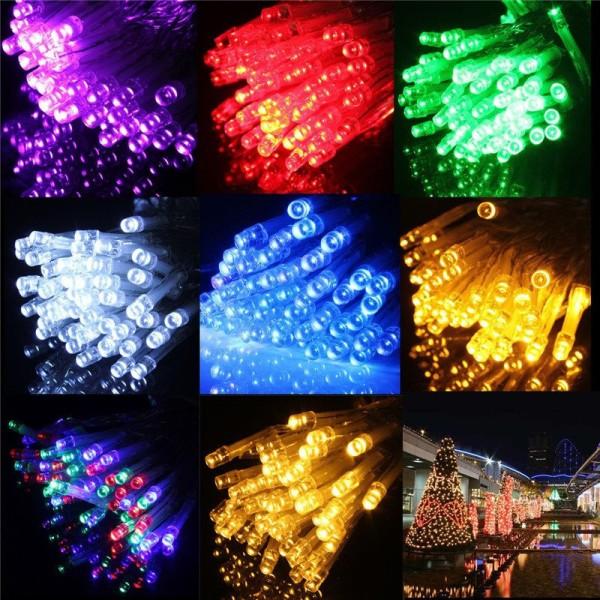 Φώτα led 140 λαμπάκια με λευκό καλώδιο