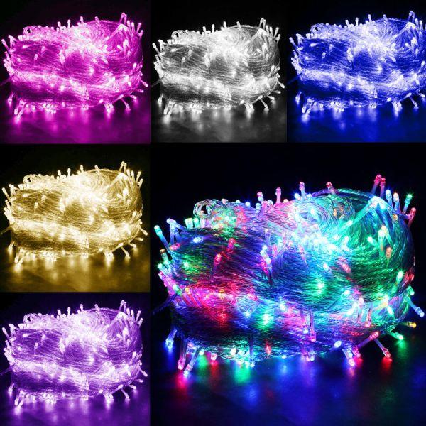 Φώτα led 240 λαμπάκια με λευκό καλώδιο