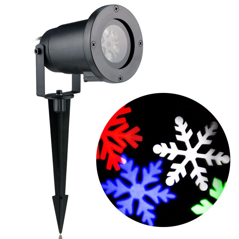 Χριστουγεννιάτικο φωτιστικό laser projector εξωτερικού χώρου - Σχέδιο Νιφάδες