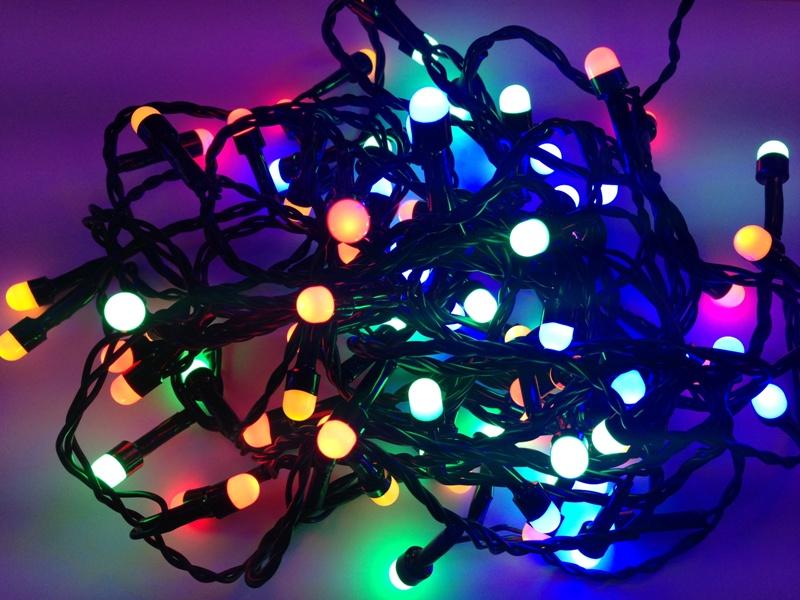 Φώτα led 80 λαμπάκια μπίλια με πράσινο καλώδιο