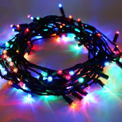 Φώτα led 80 λαμπάκια πολύγωνα με πράσινο καλώδιο
