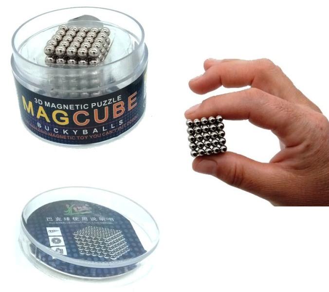 Τρελομαγνήτες - Μαγνητικός Κύβος από μαγνητικές μπίλιες για τρισδιάστατα πάζλ