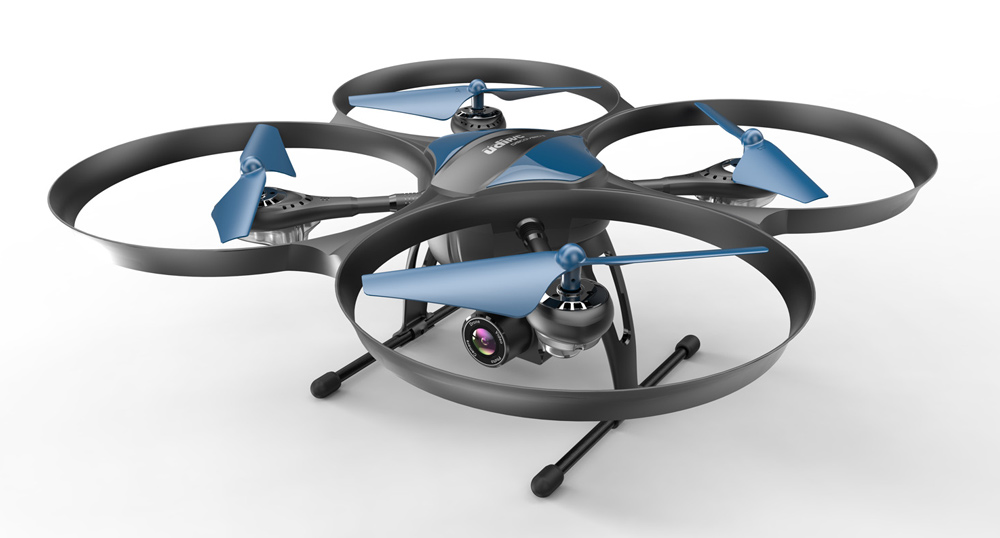 UDIRC Drone U818A Plus 720p 120° Wide-Angle HD Camera WiF VR Mode (Πληρωμή έως 12 δόσεις)