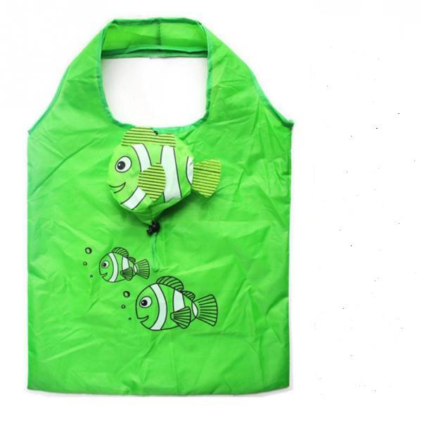 """Επαναχρησιμοποιούμενες οικολογικές τσάντες για ψώνια - πουγκί """"ψάρι"""""""