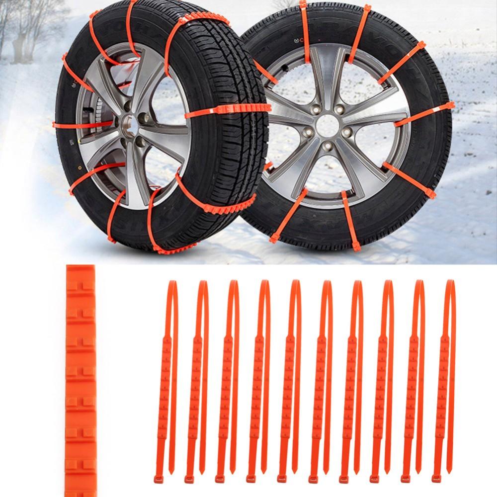 Universal Πλαστικές Αλυσίδες Χιονιού Για Το Αυτοκίνητο - Σετ 10 τεμαχίων