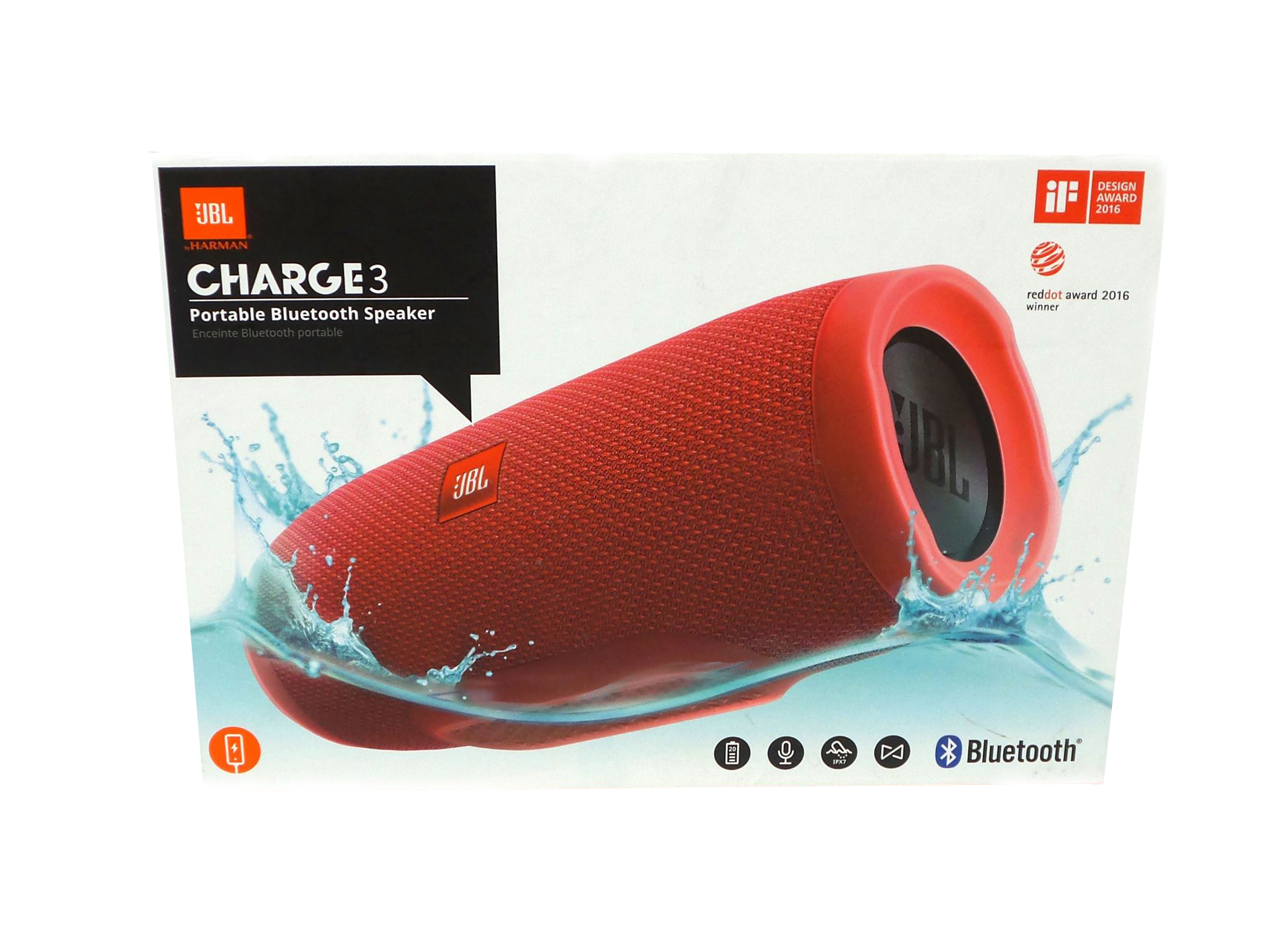 JBL Charge 3 Bluetooth Ηχείο Red