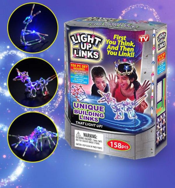 Φωτιζόμενο σετ κατασκευών 158 τεμαχίων light up links