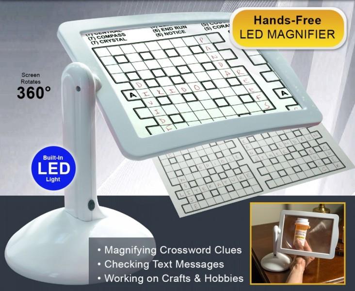 Μεγεθυντικός φακός Hands Free magnifier με LED-360 μοιρών
