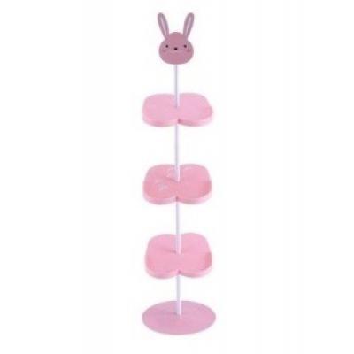 Παιδική επιδαπέδια παπουτσοθήκη ροζ λάγος