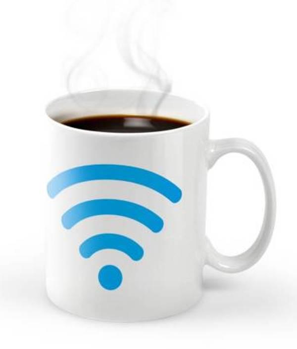 """Κούπα από πορσελάνη """"WiFi hot spot"""""""