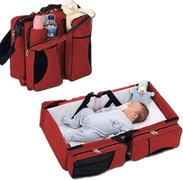 Τσάντα - βρεφικό κρεβατάκι 2 σε 1