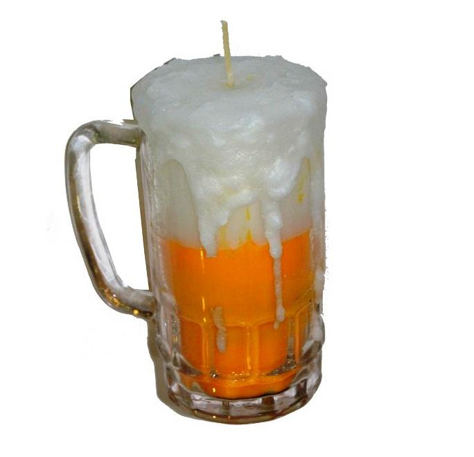 Χειροποίητη λαμπάδα Μπύρα σε ποτήρι
