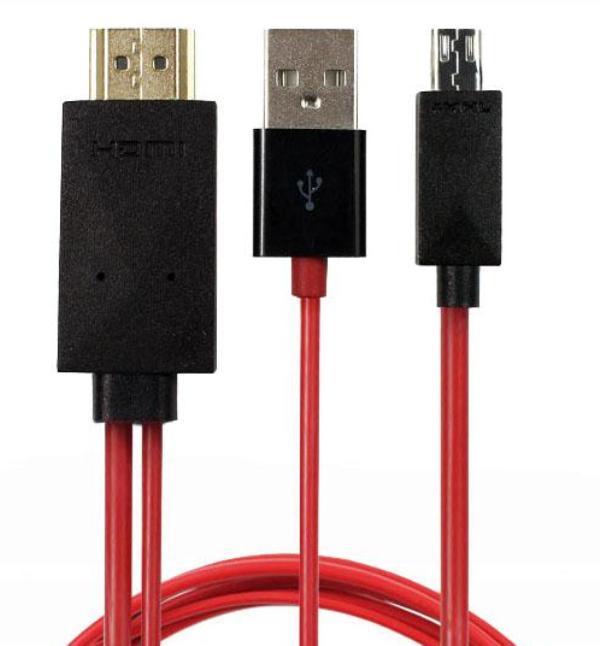 Καλώδιο σύνδεσης κινητού με την τηλεόραση micro USB, HDMI, USB 2.0