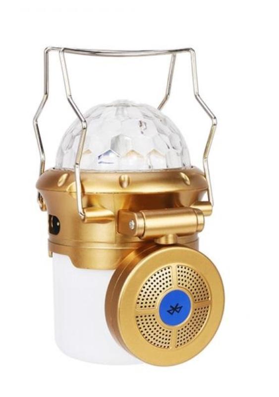 Επαναφορτιζόμενο ηχείο φανάρι κατασκήνωσης με Bluetooth
