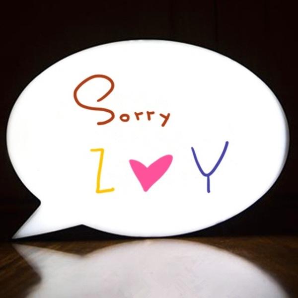 """Φωτιζόμενος διακοσμητικός πίνακας LED """"Συννεφάκι μηνυμάτων"""" ΔΩΡΟ 3 WhiteBoard Markers"""