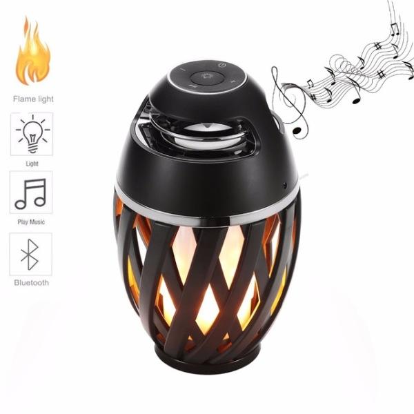 Επαναφορτιζόμενο Ηχείο Bluetooth με LED φλόγα