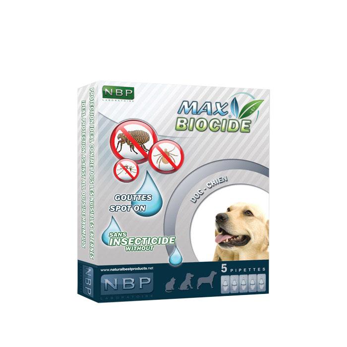 Αντιπαρασιτικές αμπούλες σκύλου Max Biocide 5x1ml