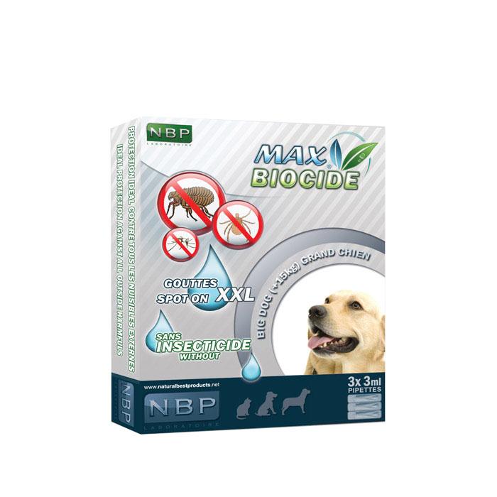 Αντιπαρασιτικές αμπούλες σκύλου Max Biocide 3x3ml