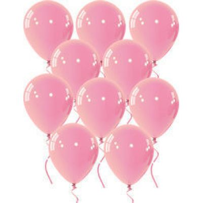 Μπαλόνια 9 ιντσών ματ ροζ 15 τεμάχια