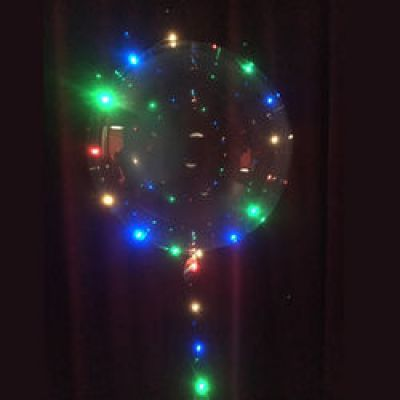 Μπαλόνι φωτιζόμενο 24 ιντσών LED πολύχρωμο