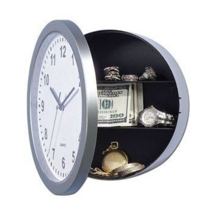 Ρολόι Τοίχου Numbers Και Χρηματοκιβώτιο 2 Σε 1