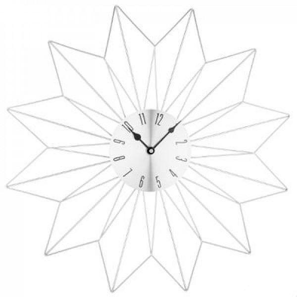 Ρολόι Τοίχου Metal Star Silver 50cm