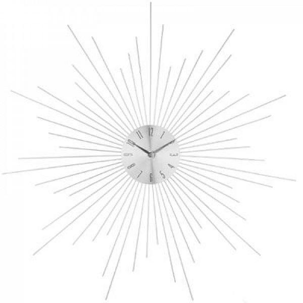 Ρολόι Τοίχου Metal Sun Silver 50cm