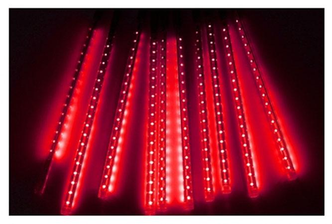 Χριστουγεννιάτικη Επεκτεινόμενη LED Βροχή Μετεωριτών Spiral 8 x 47cm Κόκκινο OEM 3219