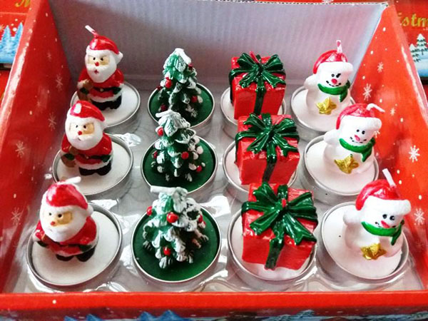 Χριστουγεννιάτικα Κεράκια Ρεσώ Σετ 12 Τεμαχίων Νο3 OEM 3221