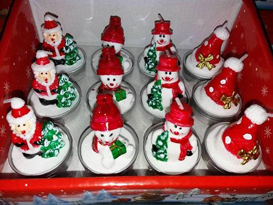 Χριστουγεννιάτικα Κεράκια Ρεσώ Σετ 12 Τεμαχίων OEM 3223