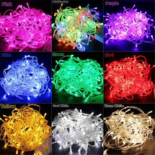 Φώτα Led 100 Λαμπάκια Με Λευκό Καλώδιο ΟΕΜ 3238