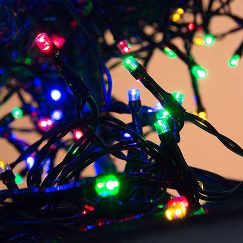200 Φωτάκια LED Με Μαύρο Καλώδιο Επεκτεινόμενα OEM 3239