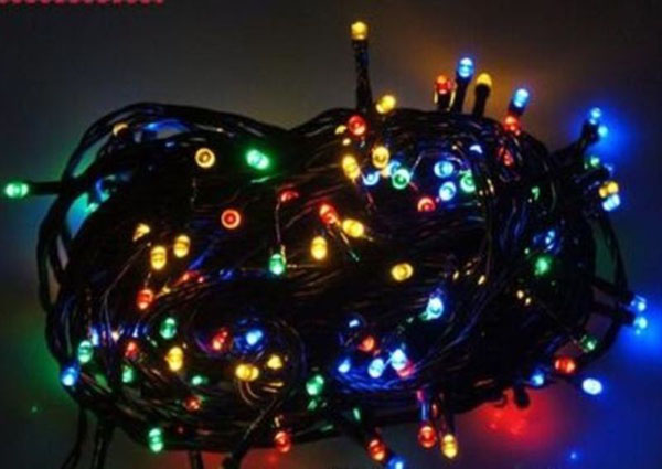 100 Φωτάκια LED Με Μαύρο Καλώδιο Επεκτεινόμενα OEM 3240