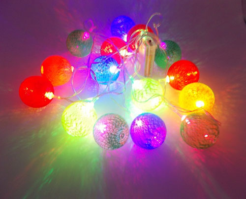 15 Φωτιζόμενες Χρωματιστές Μπαλίτσες Μπαταρίας OEM 3243