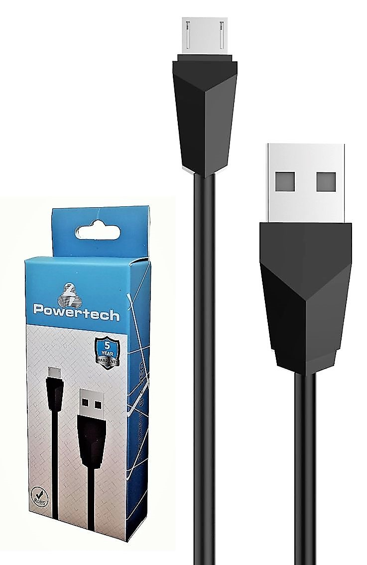 POWERTECH Καλώδιο USB 2.0 σε Micro USB Type B, 1m, Black - POWERTECH 13386