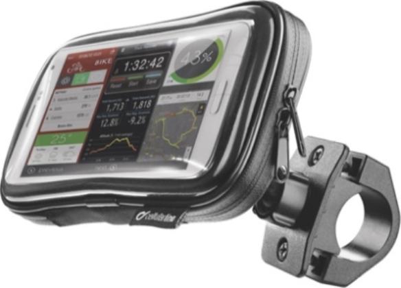"""Τσαντάκι Ποδηλάτου-Μηχανής Αδιάβροχο Για Τηλέφωνα Εως 5.2"""" Cellularline"""