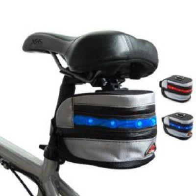 Τσάντα Ποδηλάτου Και Φως 2σε1   LED