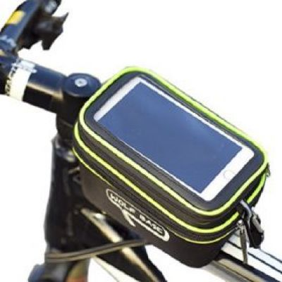 """Τσαντάκι Ποδηλάτου Αδιάβροχο Με Αποσπώμενη Θήκη Διάφανης Μεμβράνης touch screen sensitive Για Ττηλέφωνα Εως 5.5"""""""